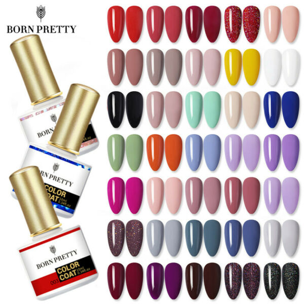 BORN PRETTY Nail UV Gel Polish Soak Off Nail Art Topcoat Base Coat Gel Varnish