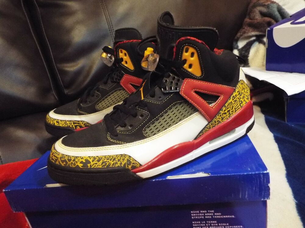 big sale 2601e 51285 Details about 07 Nike Air Jordan SPIZIKE KING COUNTY BLACK TAXI RED WHITE  GOLD 315371-071 SZ11