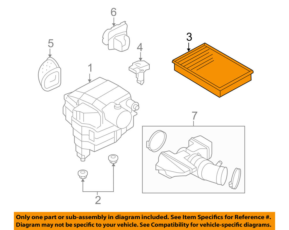 Land Rover Oem 05 09 Lr3 Engine Air Cleaner Filter Element Phe000112 Diagram Ebay