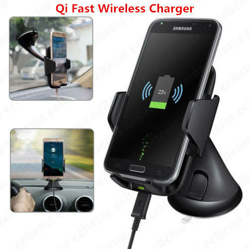 QI FAST WIRELESS Charging Charger Car Mount Holder For