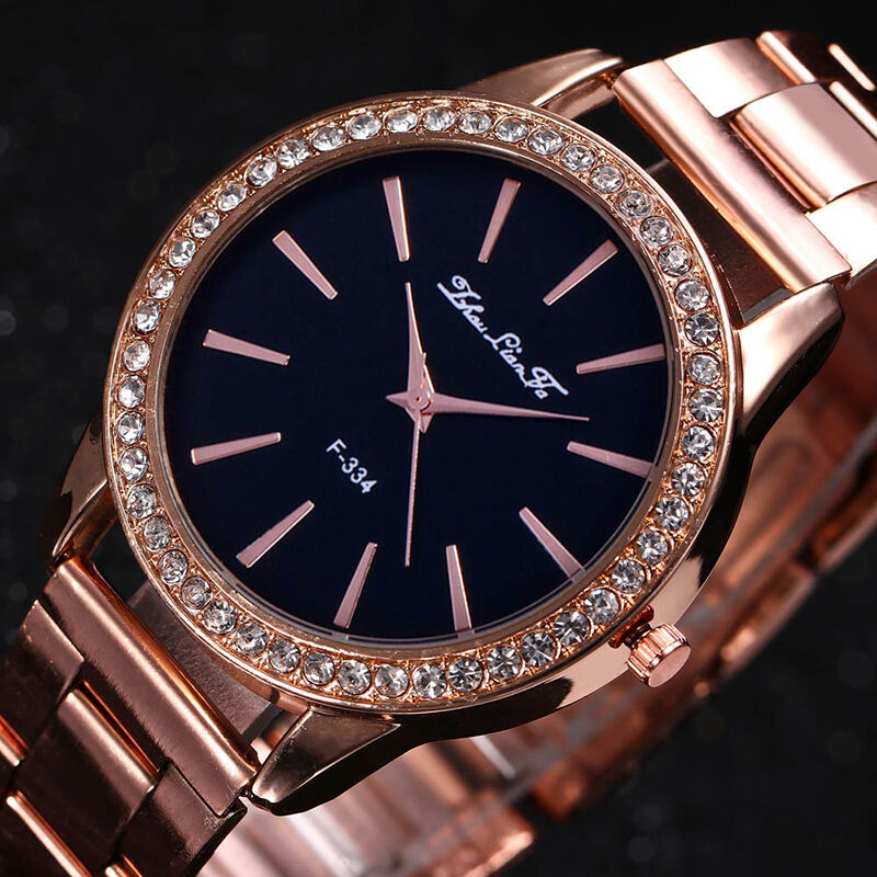 fashion rose gold tone ladies watches women softech quartz wrist watch hot ebay. Black Bedroom Furniture Sets. Home Design Ideas