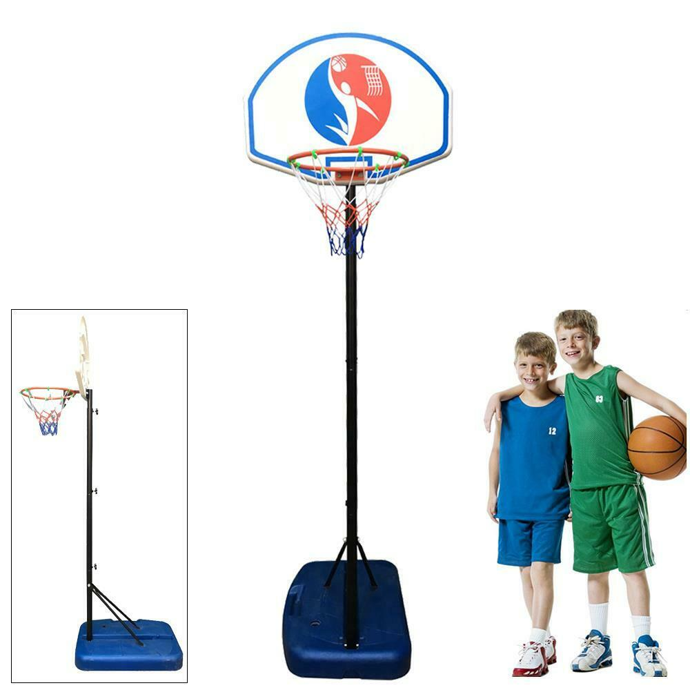 Youth Indoor Outdoor Adjustable Height Portable Kid Basketball Hoop Goal Set