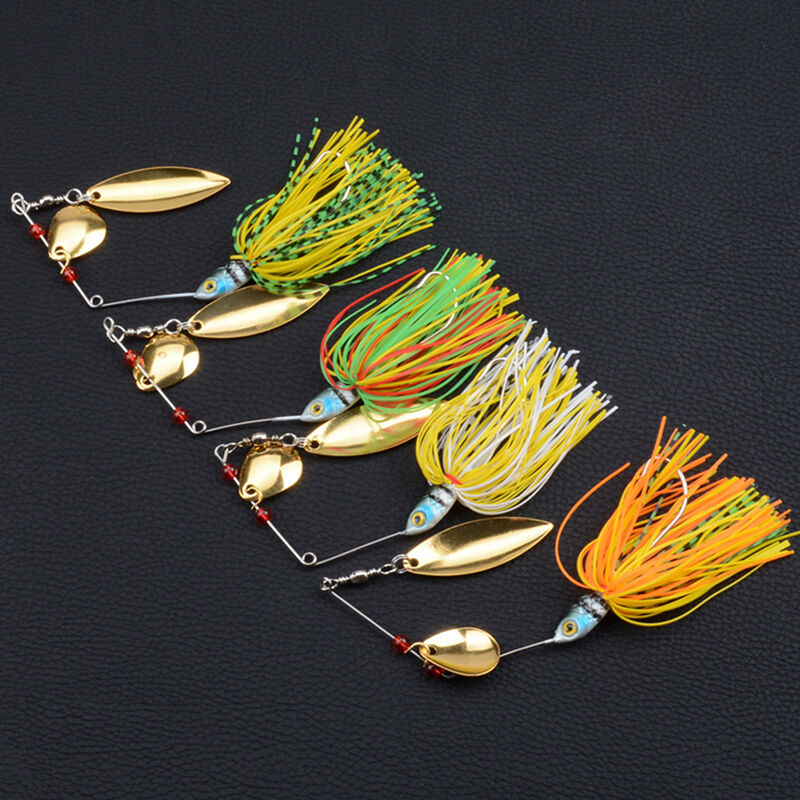 Spinnerbait buzzbait lure plug spinner pike bass perch for Bass fishing lure kits