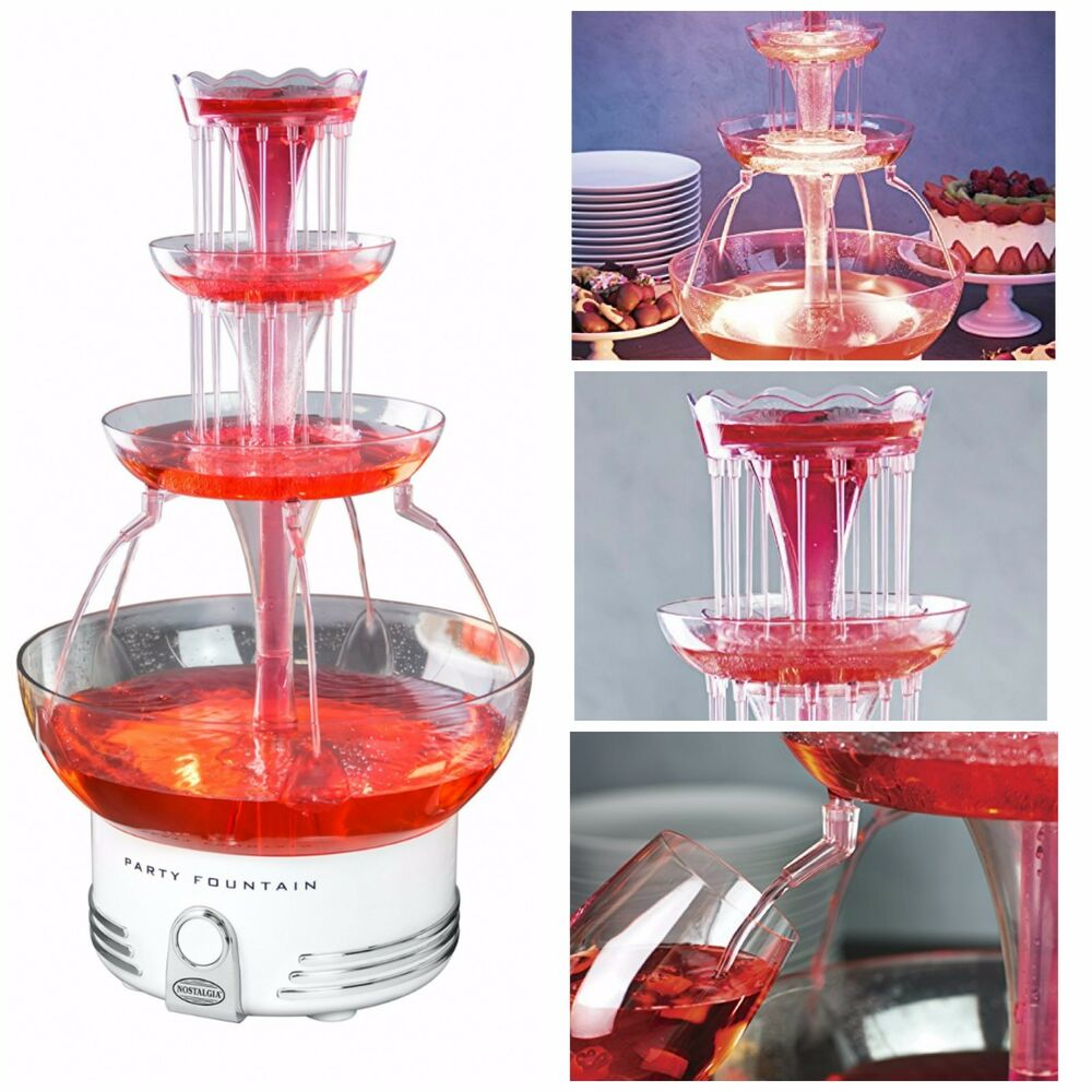 3 tier beverage fountain party drink dispenser fountains