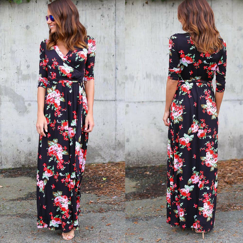 Fashion Lady Dresses: Fashion Women Dress Summer Beach Maxi Long Dress Floral