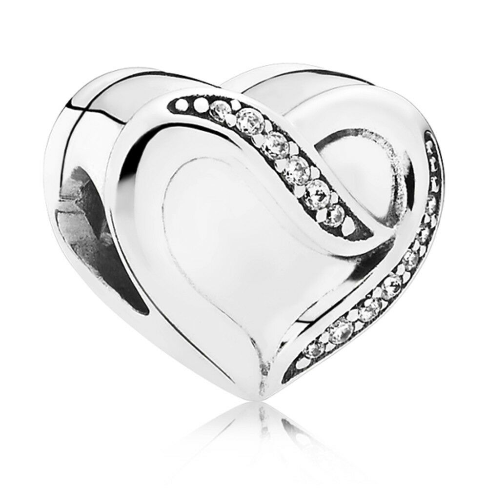 Authentic Pandora Charm Sterling Silver Ribbon Of Love
