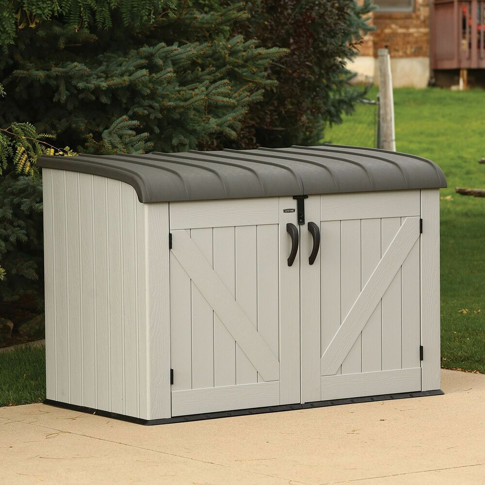 outdoor storage containers lifetime horizontal storage box new new new ebay 30599