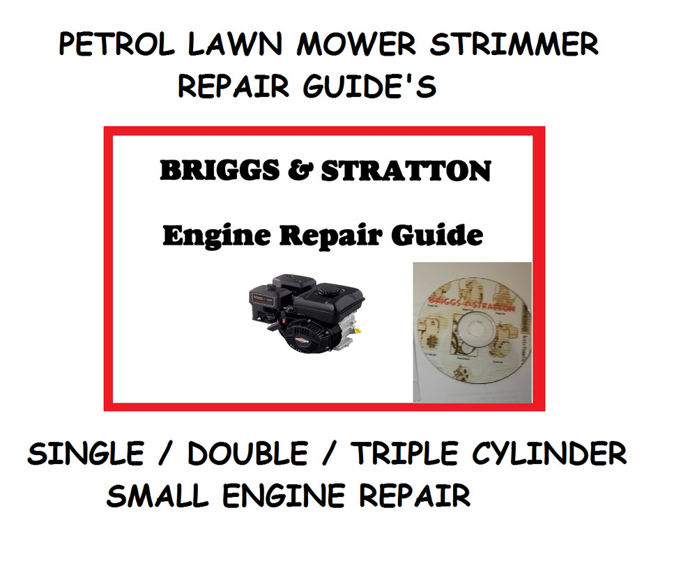 Petrol lawn mower strimmer repair guide briggs stratton engine petrol lawn mower strimmer repair guide briggs stratton engine workshop manual ebay fandeluxe Image collections