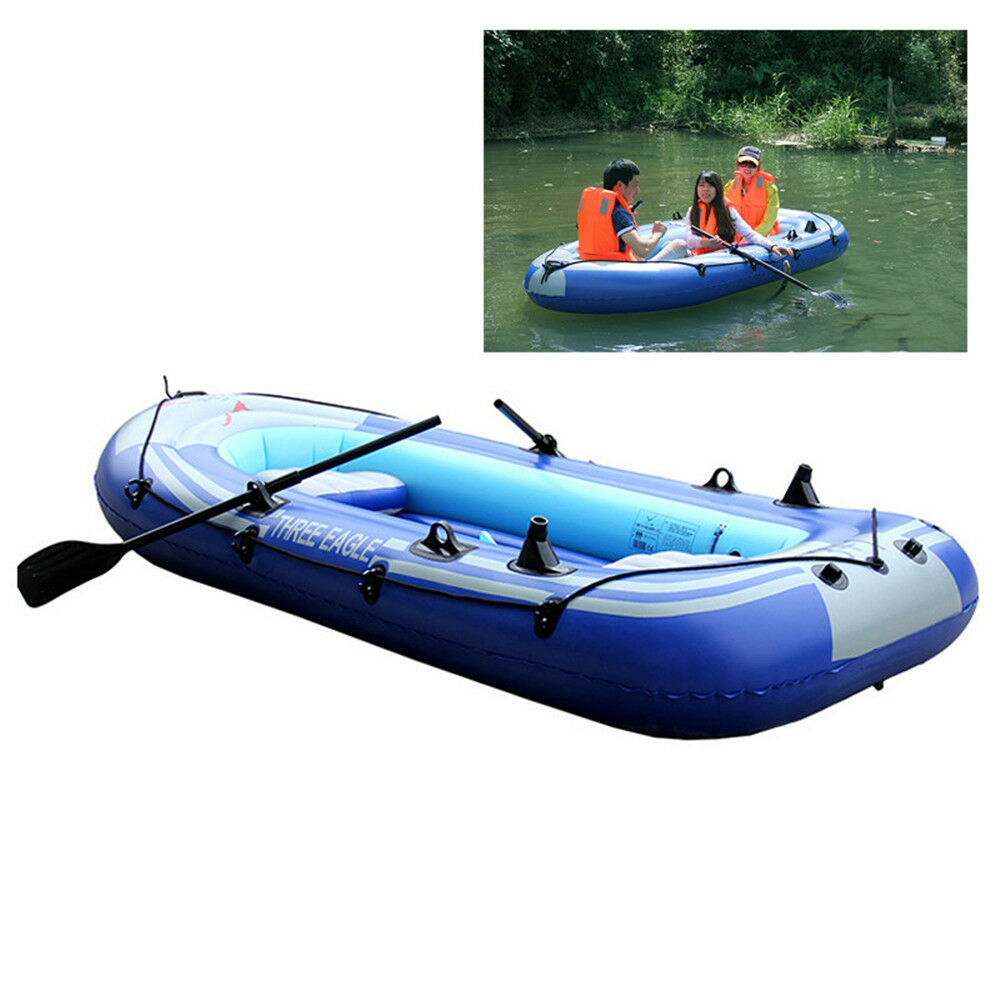 2-4 Person Inflatable Boat Inflatable Boat Set With Oars ...