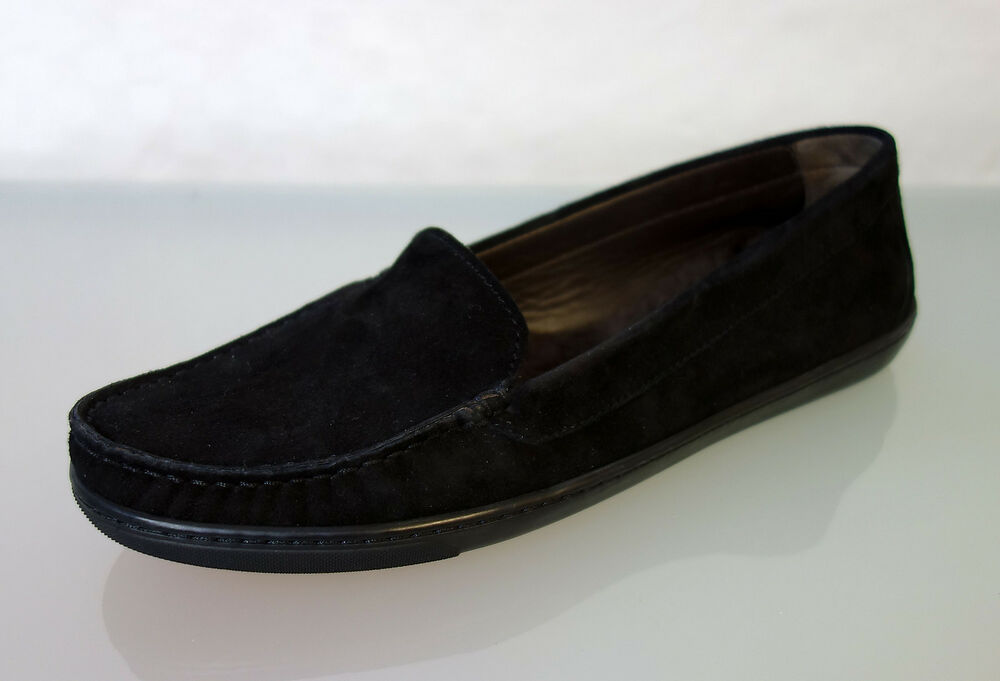 neu agl attilio giusti leombruni slipper gr 40 schuhe wildleder schwarz 1356 ebay. Black Bedroom Furniture Sets. Home Design Ideas