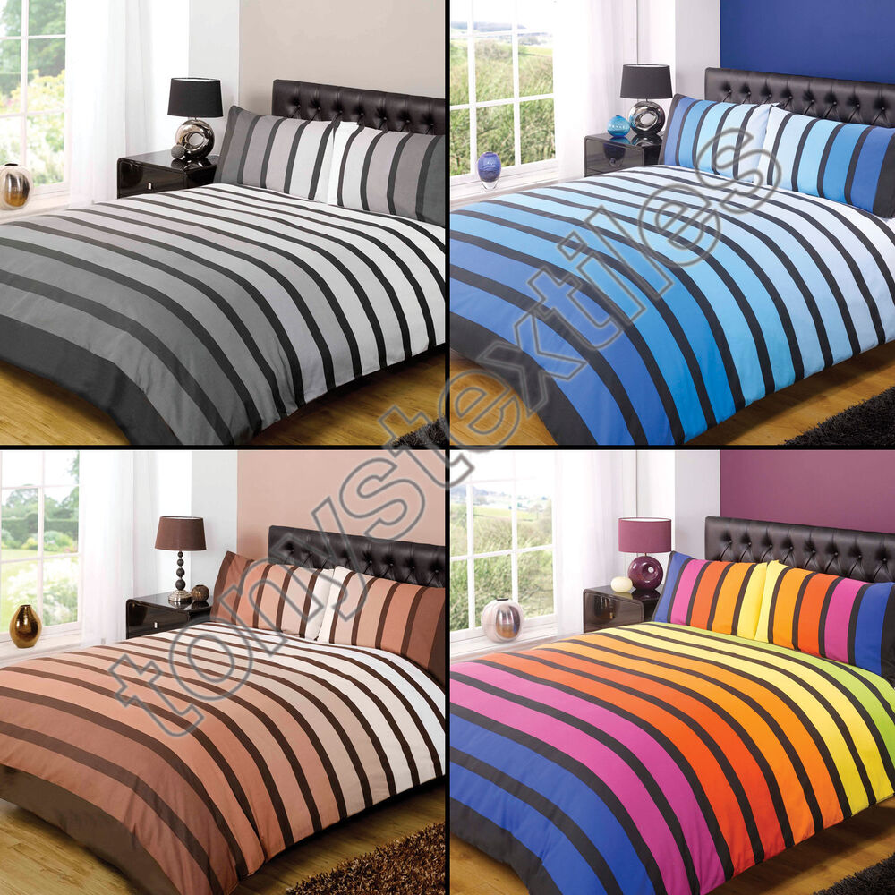 Soho Printed Duvet Cover And Pillowcase Set With Bright