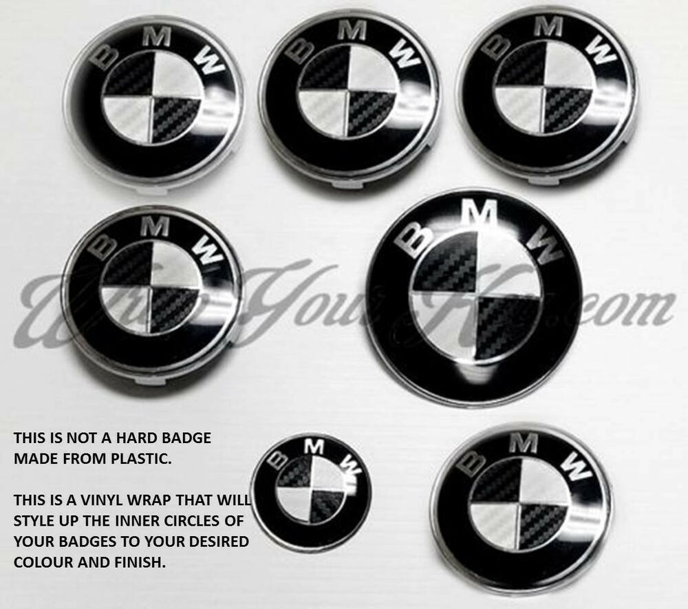 white black carbon fiber bmw badge emblem overlay hood. Black Bedroom Furniture Sets. Home Design Ideas