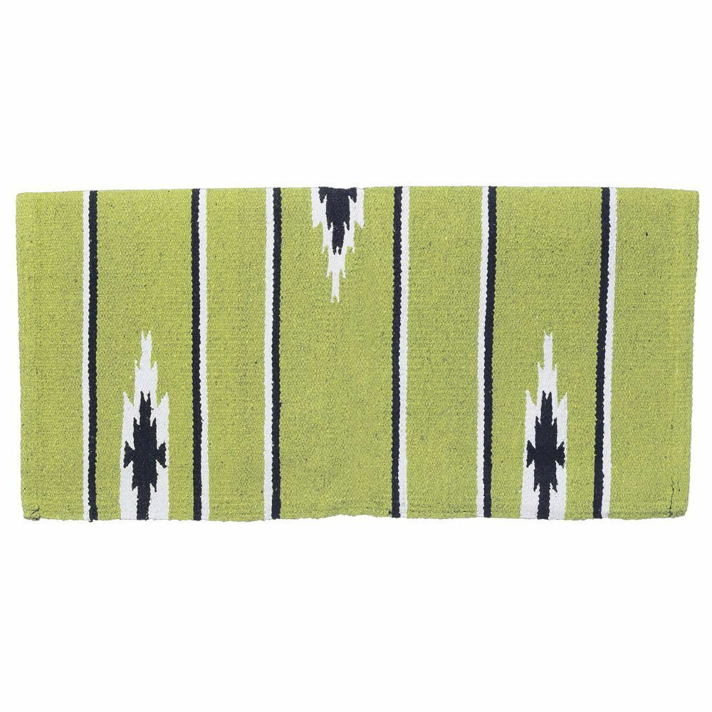 tough 1 acrylic sierra western saddle blanket 30 x 30 lime black cream ebay. Black Bedroom Furniture Sets. Home Design Ideas
