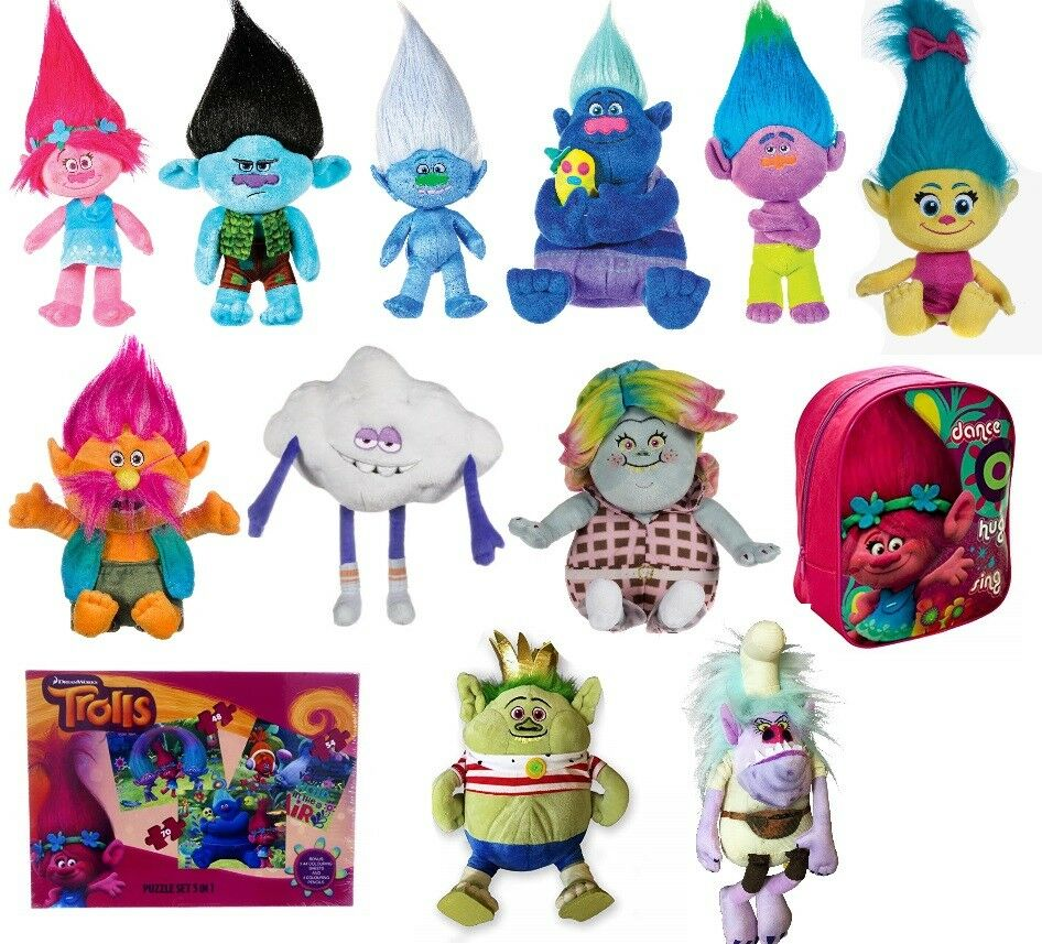 New Official 15 Quot Dreamworks Christmas Trolls Plush Soft