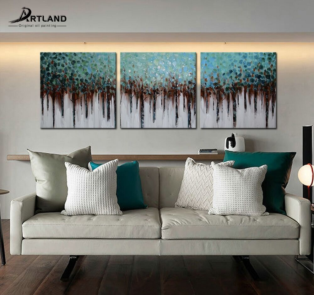 Modern large hand painted art oil painting abstract wall for Ebay dining room wall art