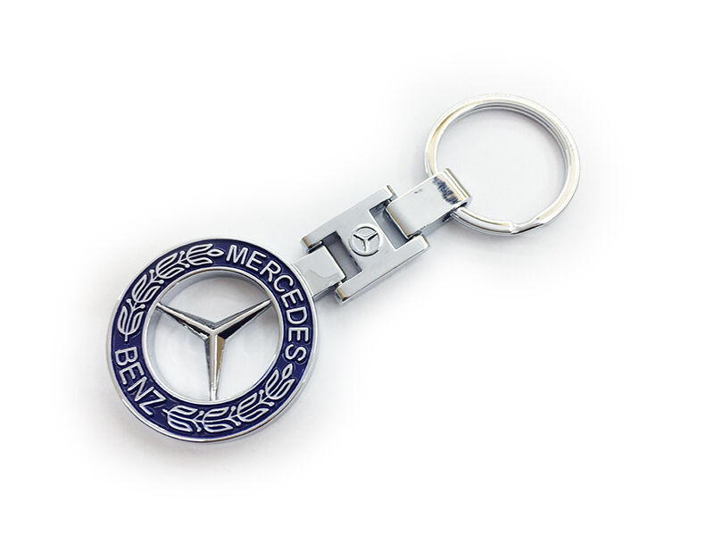 Double side logo car keychain key holder key ring fit for for Mercedes benz key holder