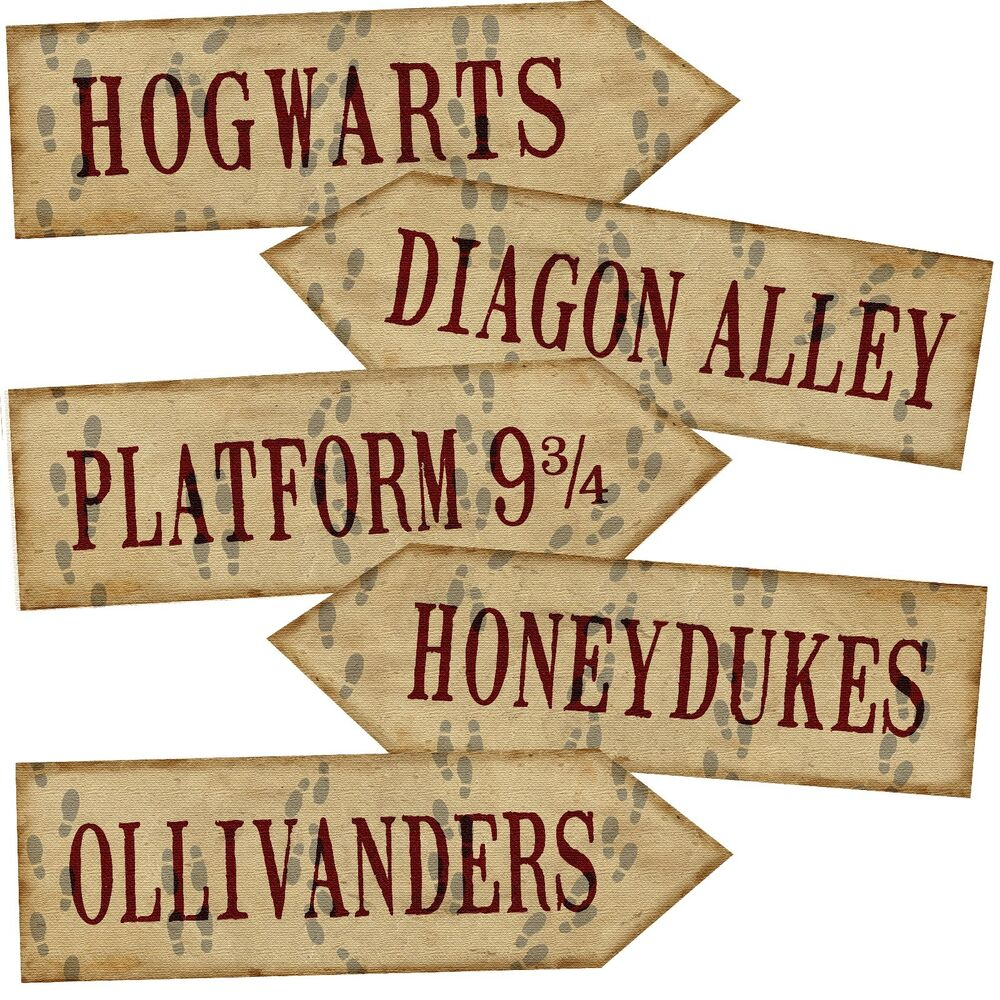 Influential image with regard to harry potter signs printable