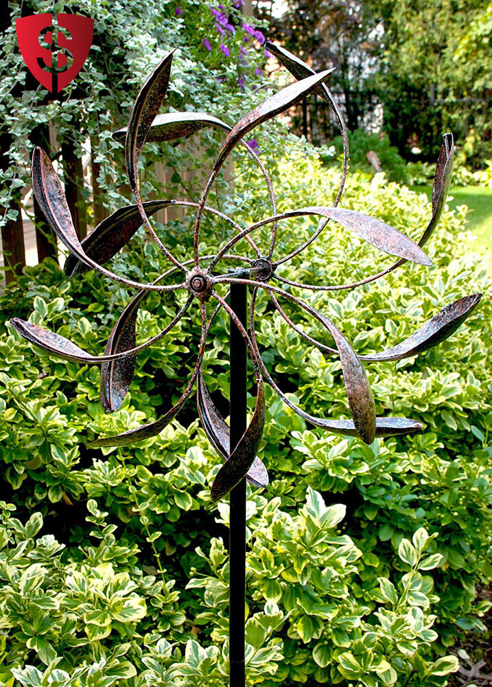 Garden Wind Spinner Yard Décor Windmill Outdoor Metal