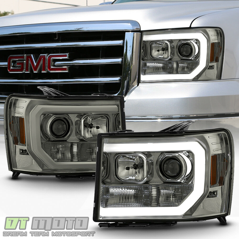 Smoked 2007-2013 GMC Sierra 1500 2500 3500HD LED OPTIC