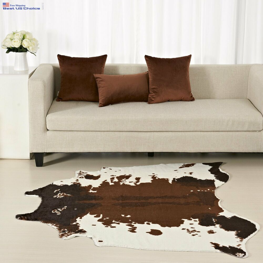 Large Cowhide Rug Cow Skin Hide Leather Carpet Faux Animal