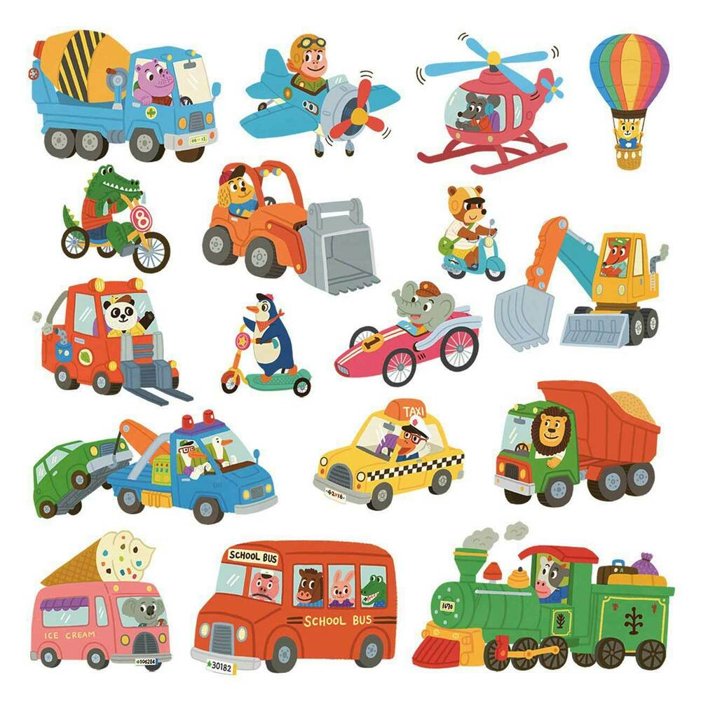 wandsticker kinderzimmer auto fahrzeuge reise der tiere wandtattoo babyzimmer ebay. Black Bedroom Furniture Sets. Home Design Ideas