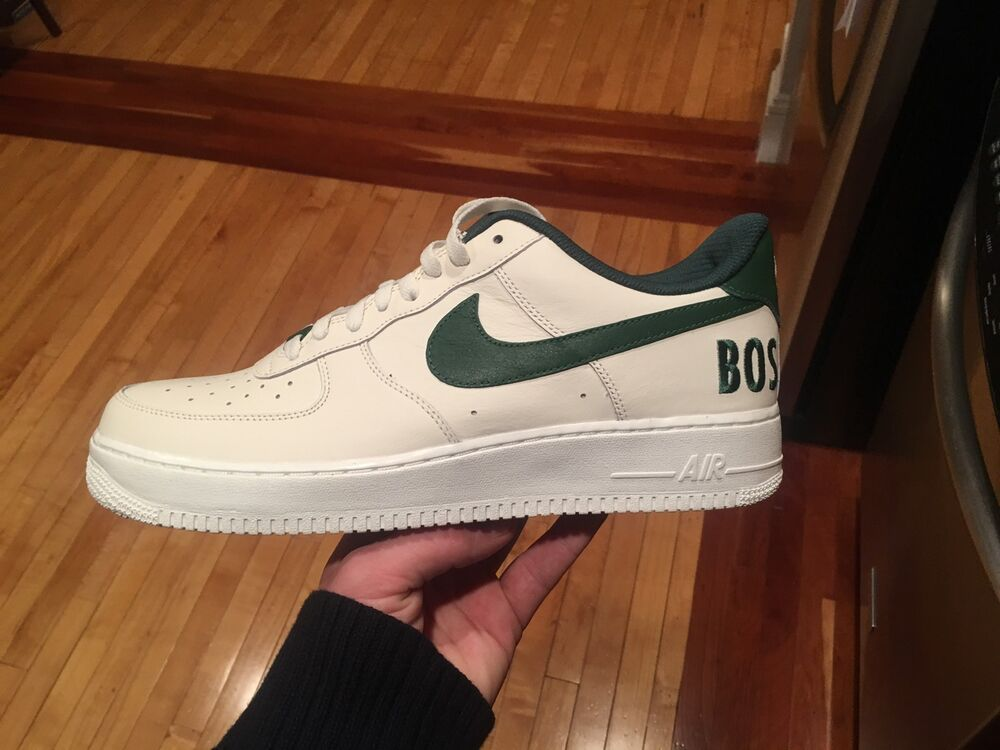 finest selection 957ad 4d6e8 Nike Air Force 1 Low Boston Celtics Sz 11.5 1 Of 5 ID One AF1 Sail Green  Kyrie   eBay