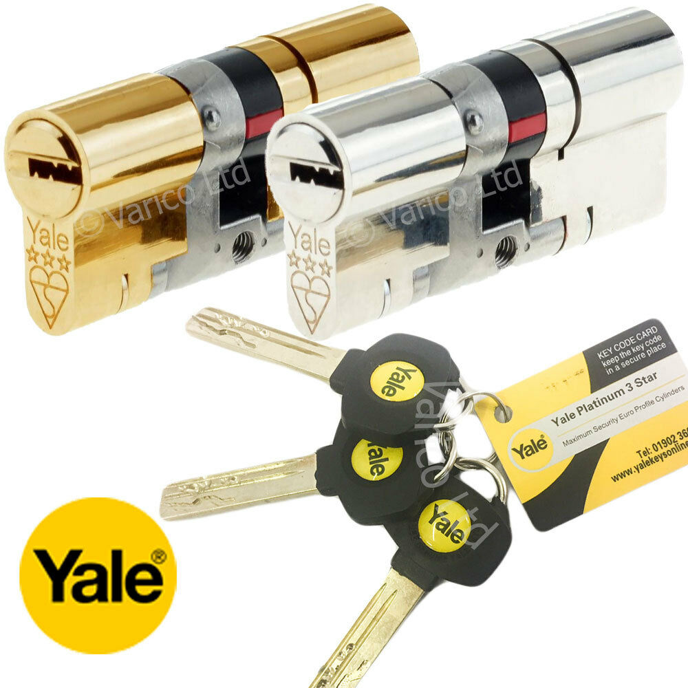 Yale Platinum 3 Star High Security Euro Cylinder Lock Upvc