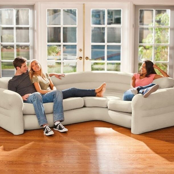 Sectional Sofa Couch Corner Inflatable Air Bed Modern Home Living