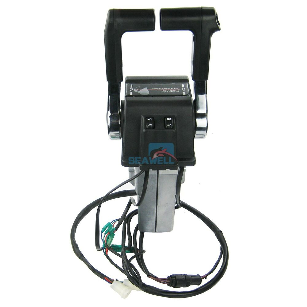 Sailboat Engine Controls : Boat outboard engine twin binnacle remote control box for