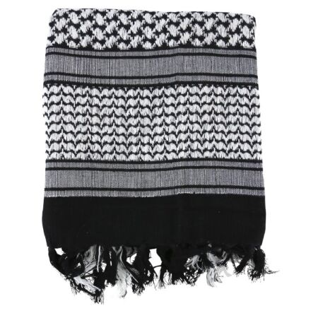 img-Shemagh Scarf Black White Military Style Arab Head Wrap Keffiyeh Woven Wrap New