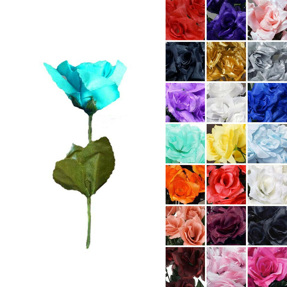 wholesale flowers wedding 168 silk open roses wedding bouquets flowers centerpieces 1386