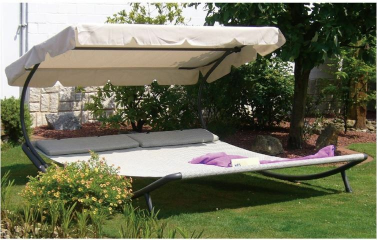 Hammock With Stand 2 Person Chaise Lounge Patio Furniture