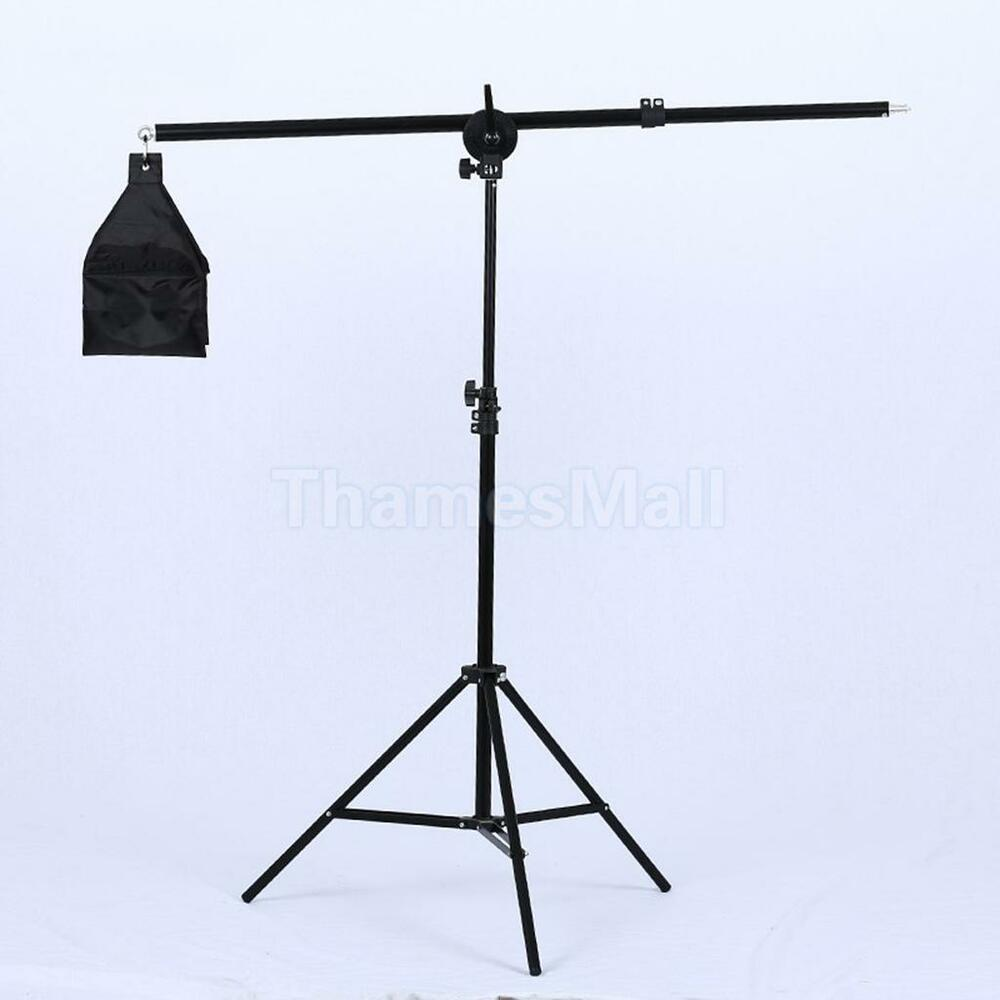 "Photo Studio Overhead Boom Arm Top Light Stand 1/4"" Mount"