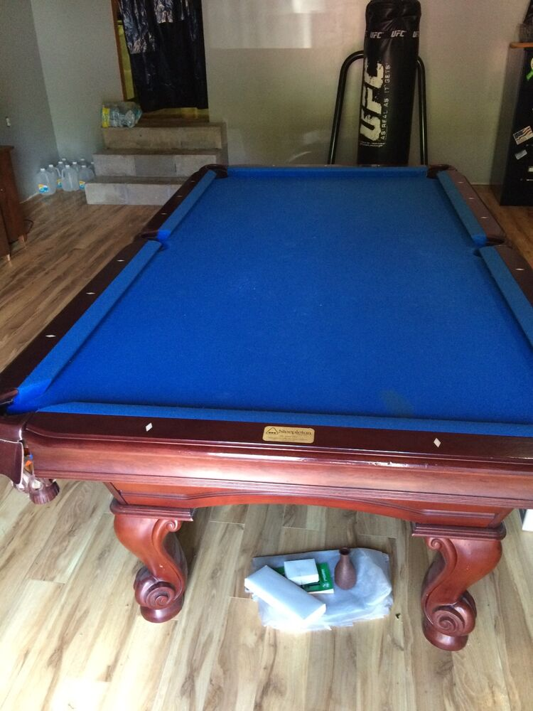Steepleton Regulation Pool Table Cherry Wood Slate Top