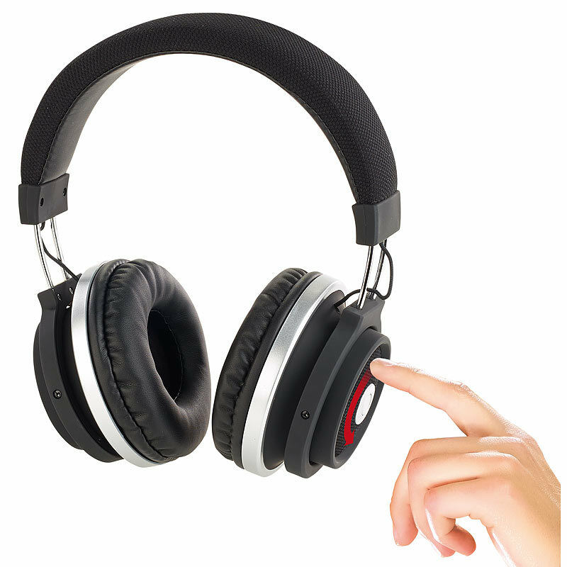 auvisio over ear headset mit bluetooth 3 0 auto connect. Black Bedroom Furniture Sets. Home Design Ideas