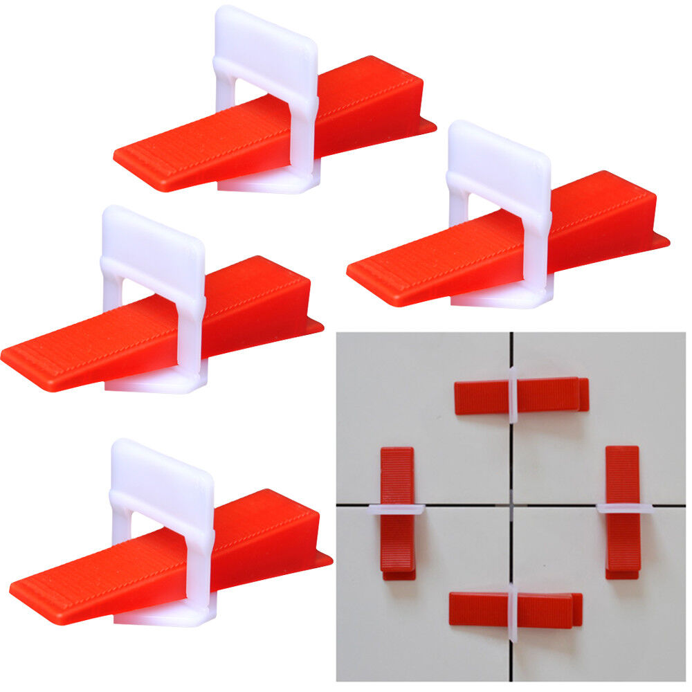 300 400pcs Perfect Tile Leveling Clips Wedges System Flat