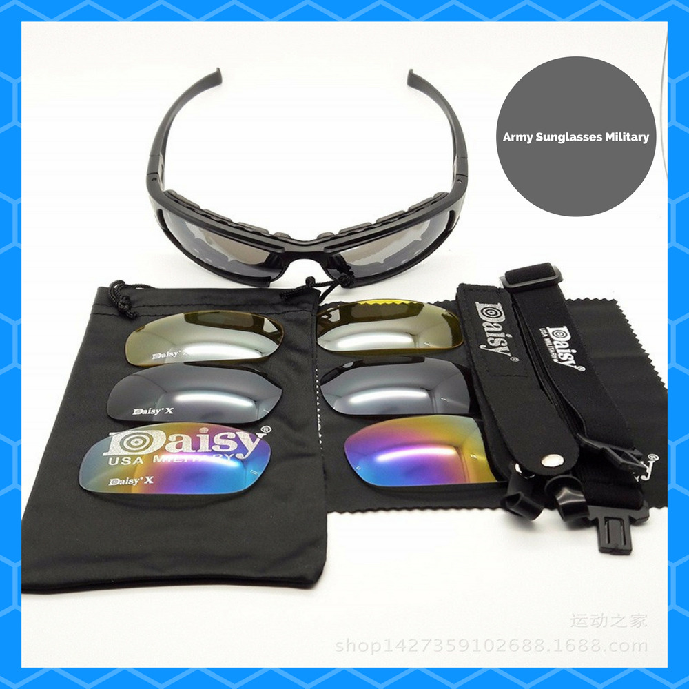 0f42c2e6c3 Details about Tactical Goggles Sunglasses Daisy X7 Military Motorcycle  Riding Glasses Eyewear