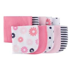 Gerber Baby Girl 10-Pack Coral/Pink/Navy Terry Washcloths BABY CLOTHES GIFT