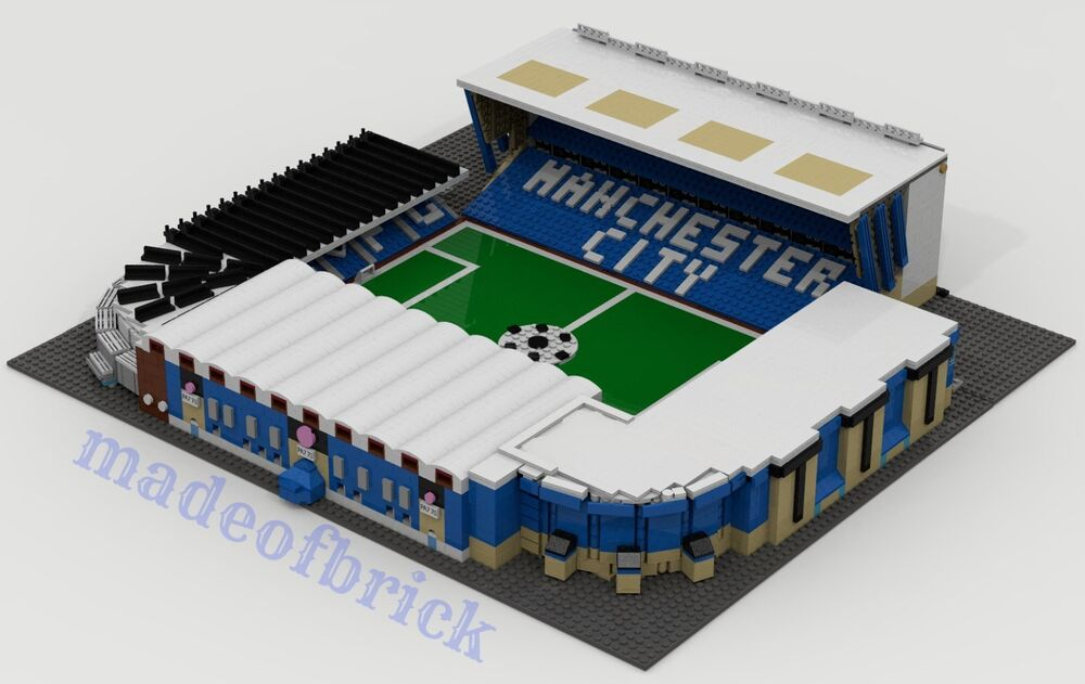 CUSTOM LEGO BUILDING. Maine Road Stadium. Manchester City ...