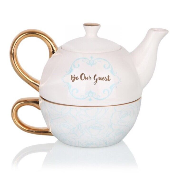 Disney Beauty And The Beast Tea For One Teapot Cup Plate