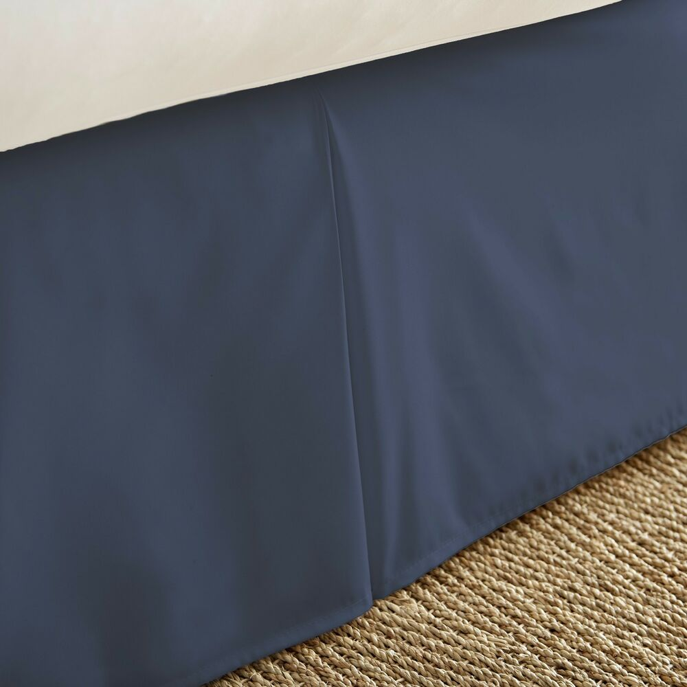 Hotel quality premium pleated bed skirt dust ruffle by the for Luxury hotel 660 collection bed skirt