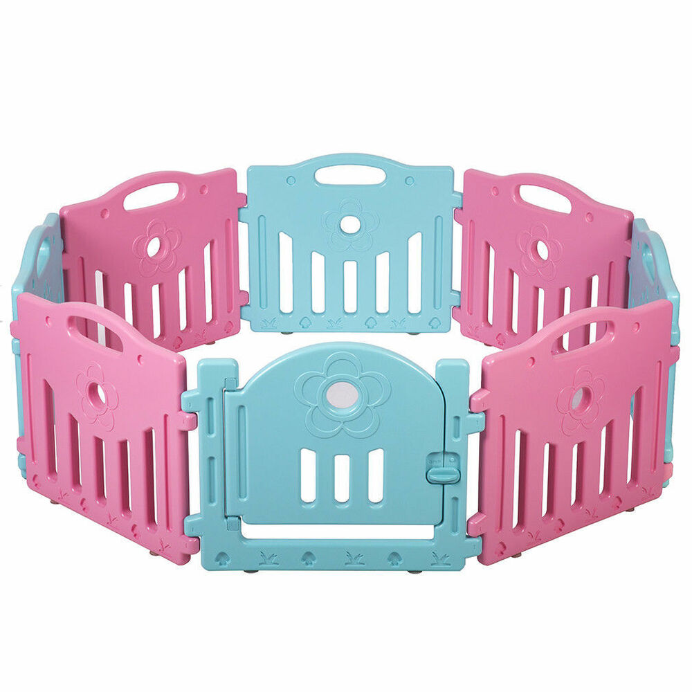 14 panel baby playpen kids safety play center yard home for Baby play centre