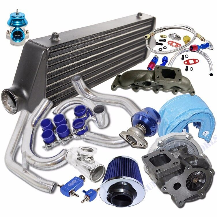 turbo kit t3 t4 turbo black intercooler for 00 05 volkswagen golf jetta 1 8t ebay. Black Bedroom Furniture Sets. Home Design Ideas