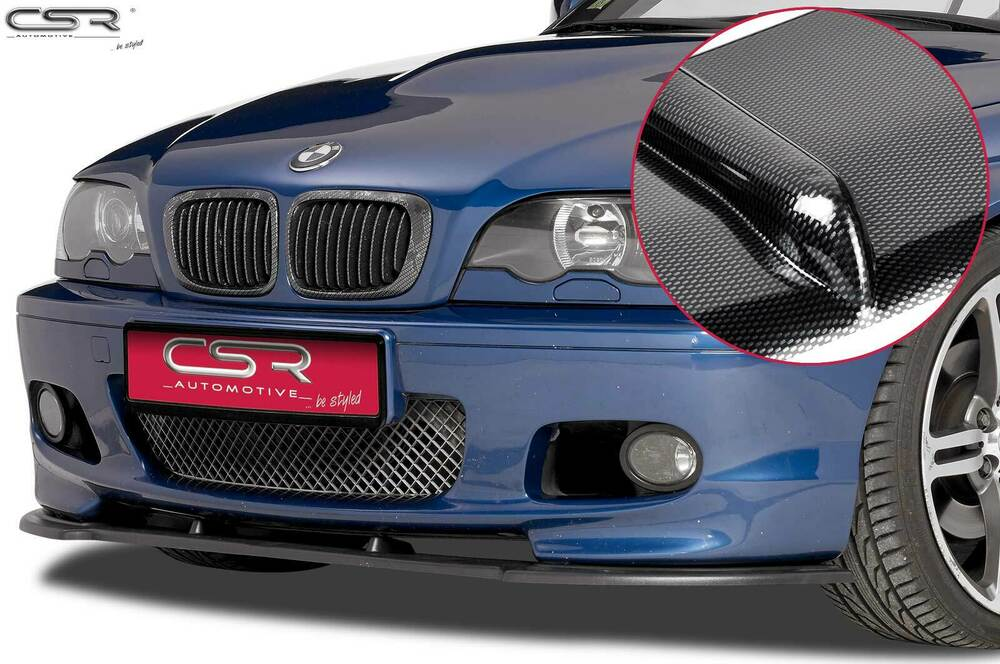cupspoiler frontlippe mit abe carbon look f r bmw 3er e46. Black Bedroom Furniture Sets. Home Design Ideas