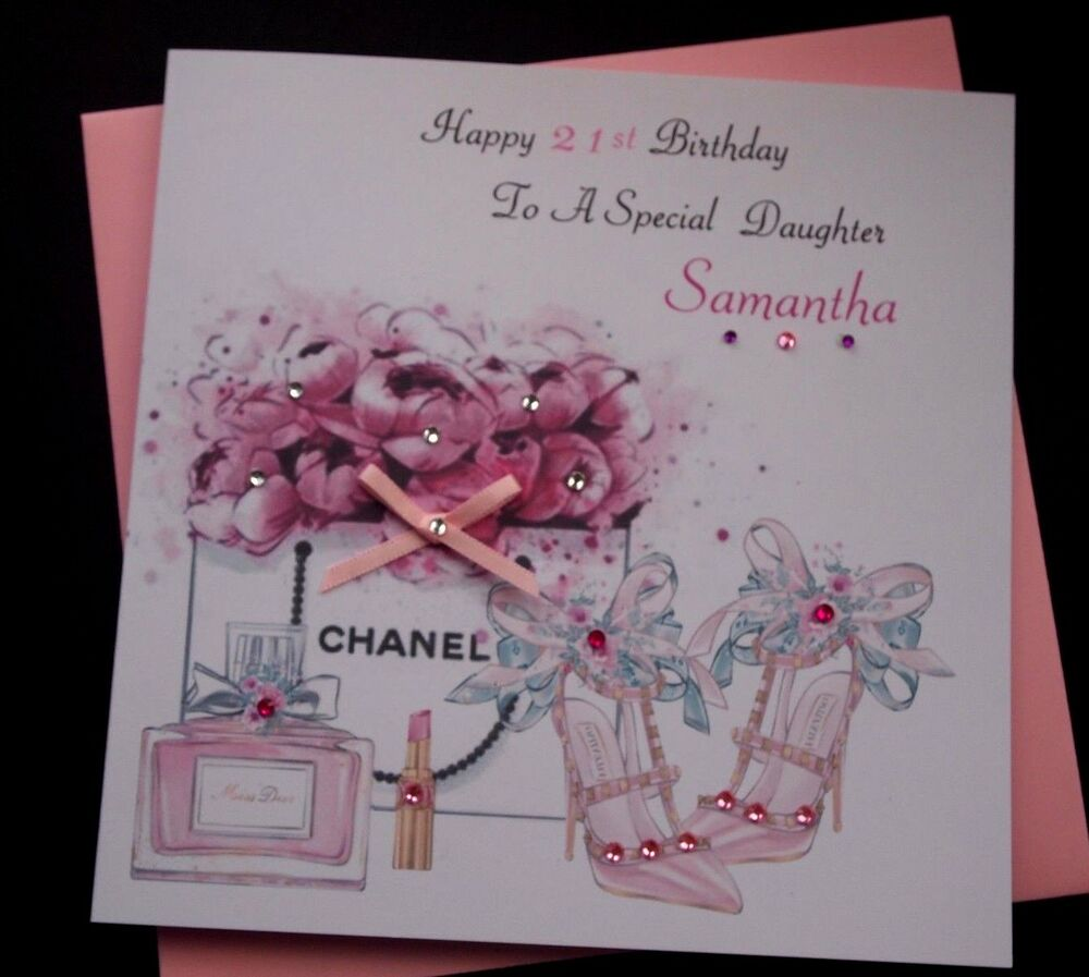 Greeting cards ebay handmade personalised birthday card daughter granddaughter 18th 21st 30th etc kristyandbryce Choice Image