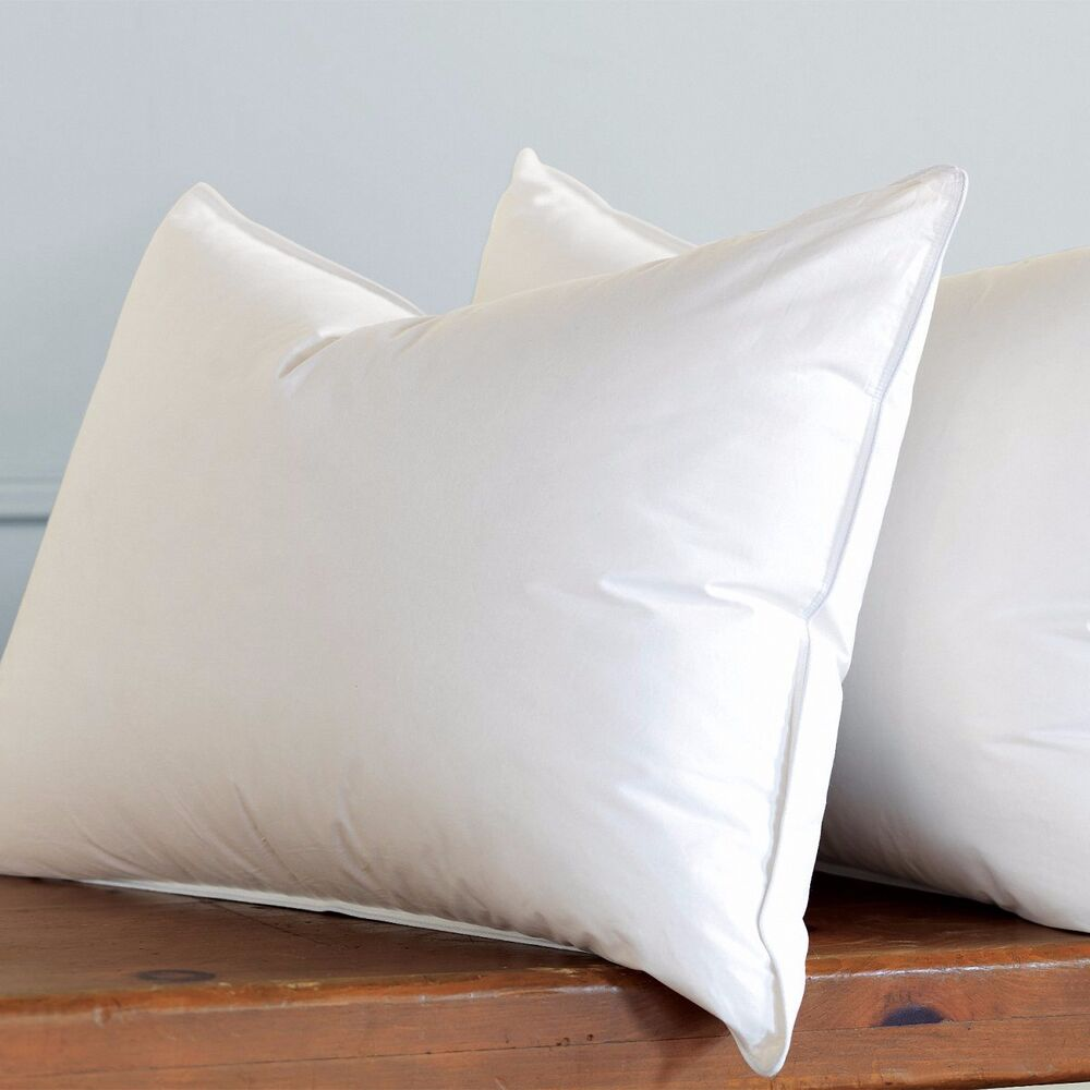 Hotel collection luxurious down feather pillow 2 pack for Best soft down pillow