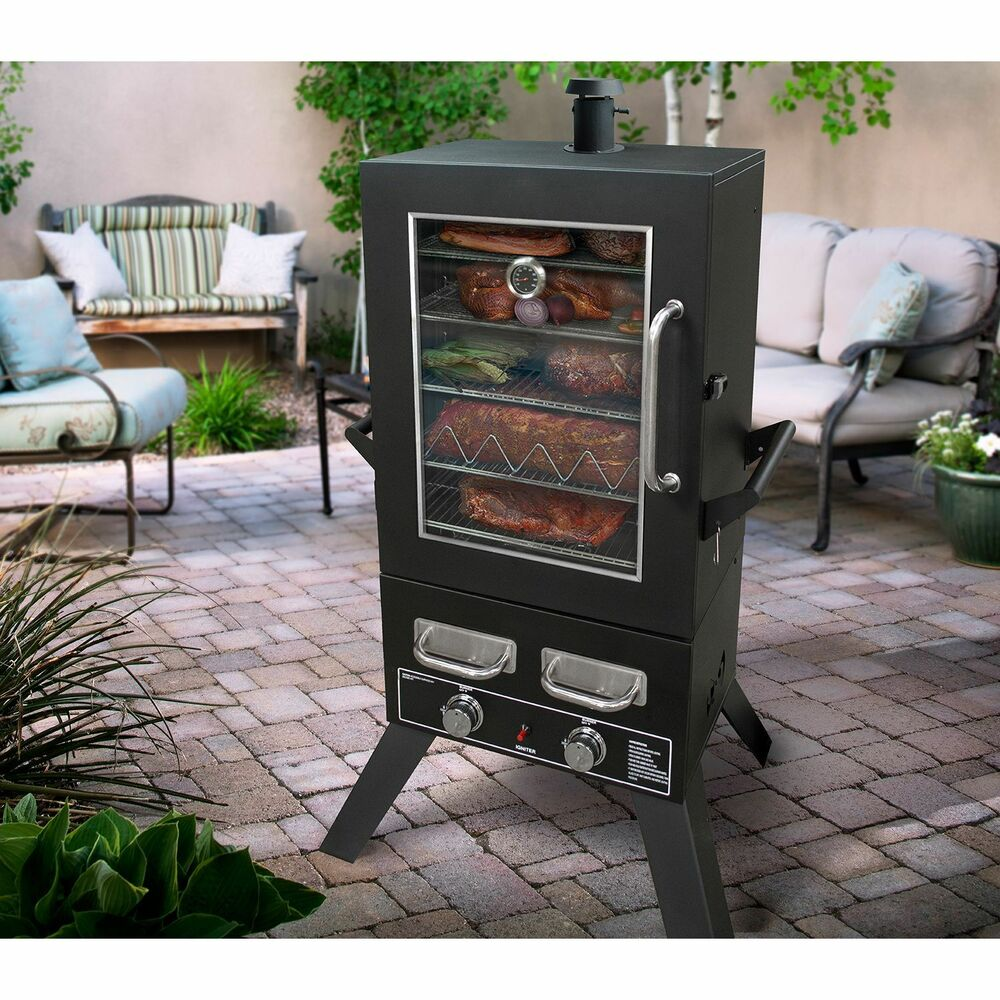 Smoke Hollow Pro Series 44 Quot Lp Gas Smoker New Ebay