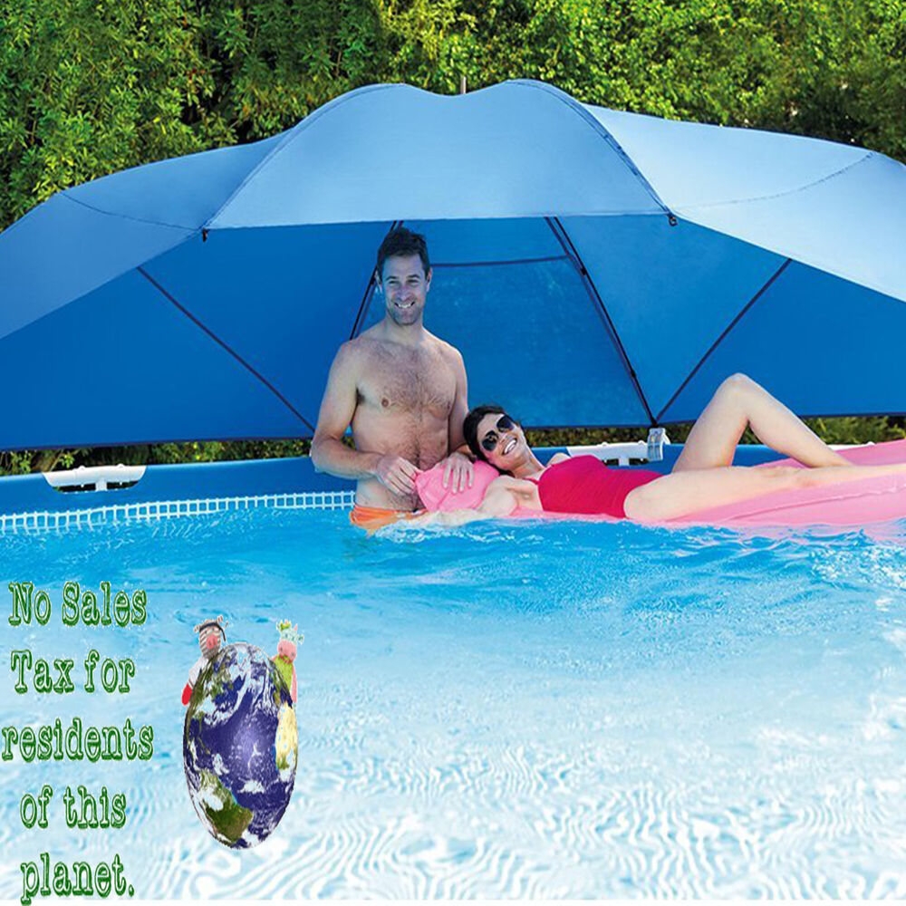 Intex swimming pool accessories umbrella large sun shade for Swimming pool accessories