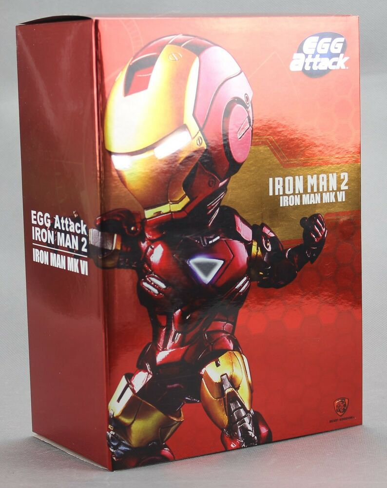 Kids logic marvel iron man 2 mini egg attack led mark vi - Mini iron man ...