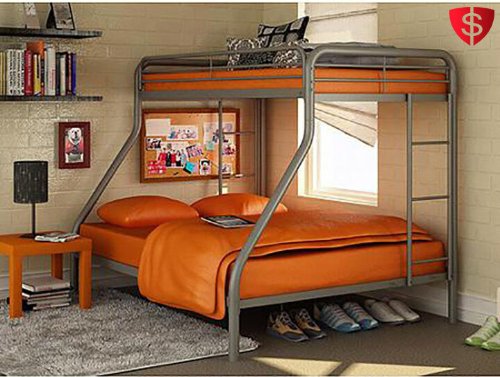 Metal Bunk Beds Twin Over Full Kids Bedroom Bed Dorm